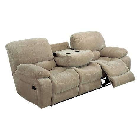 reclining sofa with table global furniture u2007 reclining sofa with drop table froth at hayneedle