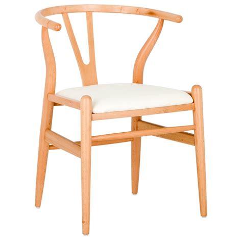 new hans wegner replica wishbone chair padded seat ebay