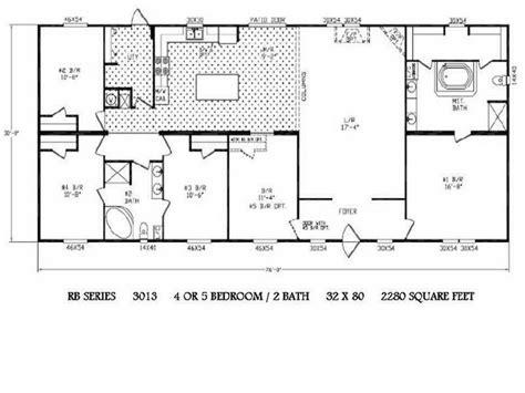 1977 Fleetwood Mobile Home Floor Plans by 5 Bedroom Wide Legacy Housing Wides Floor