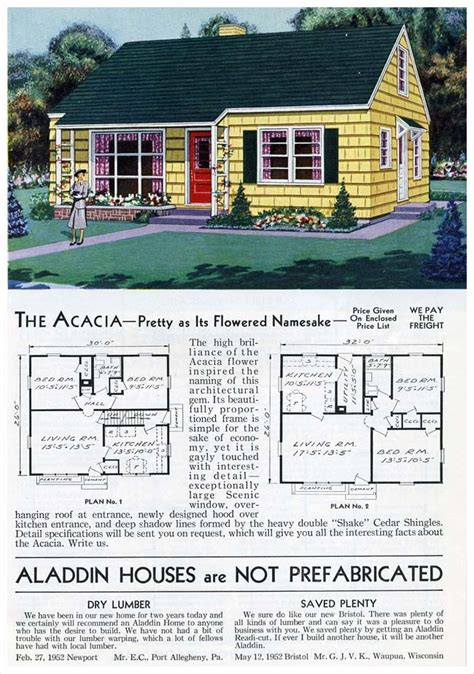 Aladdin Homes Acacia 1953 Cape cod house plans