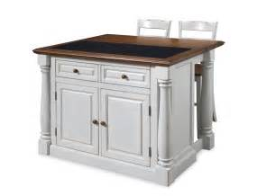 two kitchen islands home styles monarch granite top kitchen island with two stools 5021 948
