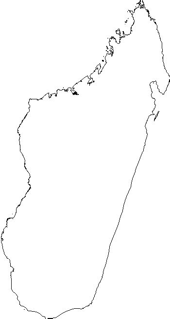 blank outline map  madagascar