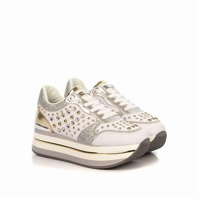 Sneakers Platform Guess Donna Ele12 Borchie Shoe