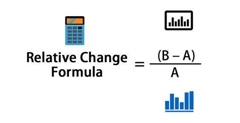 relative change formula calculator excel template
