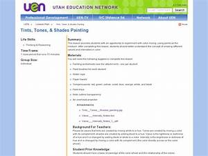 Tints  Tones   U0026 Shades Painting Lesson Plan For 8th