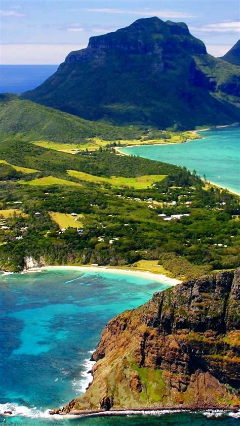 australia cliff lord howe island bay beaches wallpaper