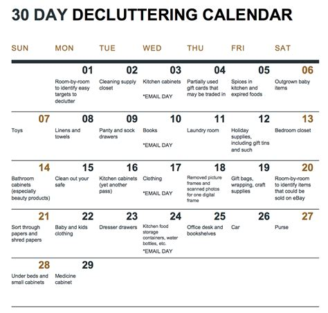 A 30 Day Decluttering Challenge With Calendar And How. Best Dance Resume Template. Board Game Template Maker. Kids Birthday Pictures. Free Clinical Technician Cover Letter. College Graduation Gifts For Him. Graduation Ideas For Boys. 1st Birthday Chalkboard Sign Template Free. Book Landing Page Template