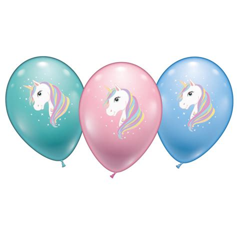 luftballon helium set einhorn luftballon 6er set 216 28 30 cm kinder geburtstag