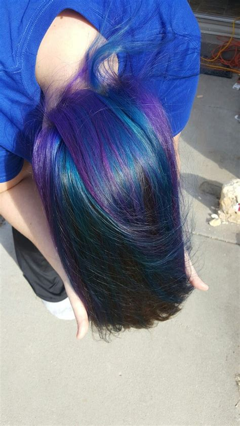 Underneath Brown Hair With Purple And Blue Great Hair