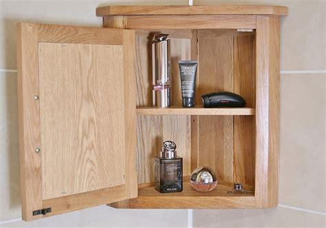 Unfinished Oak Bathroom Wall Cabinets by Solid Oak Wall Mounted Corner Bathroom Cabinet 601