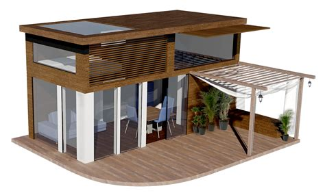 plan maison 20m2 avec mezzanine