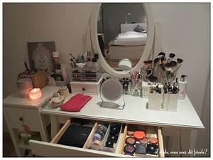 Table De Maquillage Ikea : comment organiser coiffeuse ~ Nature-et-papiers.com Idées de Décoration