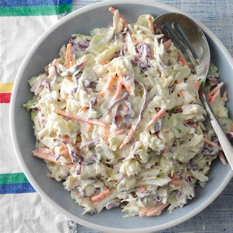 cole slaw recipe creamy coleslaw recipe taste of home
