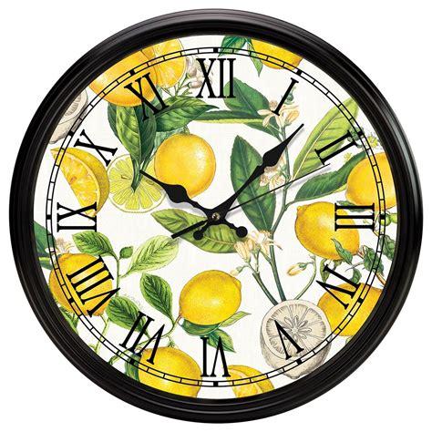 michel design works kitchen clock lemon basil