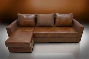 genuine leather corner sofa bed infosofaco With real leather sofa bed