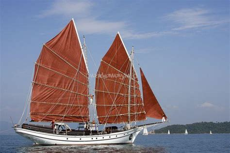 Sailing Boat Malaysia by Work On A Traditional Malay Wooden Sailing Boat Malaysia