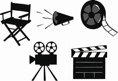 Cinema Chair Directors Vector Clip Illustrations Icons
