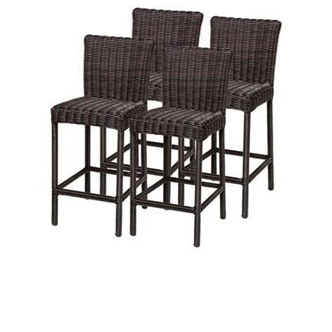 tkc venice outdoor wicker bar stools in chestnut brown