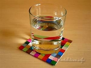 Mosaik Basteln Mit Kindern : basteln und bastelideen mosaik glasuntersetzer ~ Lizthompson.info Haus und Dekorationen