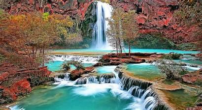 Nature Scene Wallpapers Scenes Natural Screensavers Wodospad