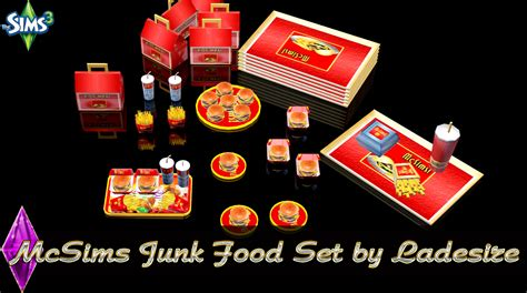 cuisine sims 3 ladesire 39 s creative corner ts3 mcsims junk food set by