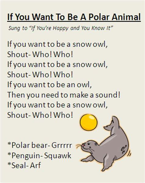 quot if you want to be a polar animal quot song great for winter 373 | 74591f4e73aafe83cee2bde2f0c68c02