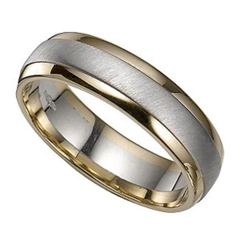 groom s 9ct two colour gold ring h samuel
