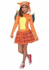 girls pokemon charizard costume