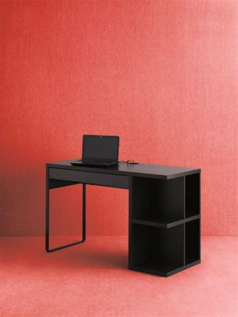 Micke Desk With Integrated Storage White Pink by Micke Desk With Integrated Storage Black Brown