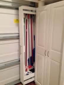 garage organized broom closet garage