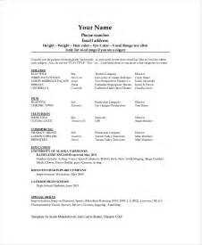 Musician Resume Template Theater Resume Template 6 Free Word Pdf Documents Free Premium Templates