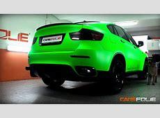 CARSFOLIEcz Radioactive green BMW X6 with Puma concolor