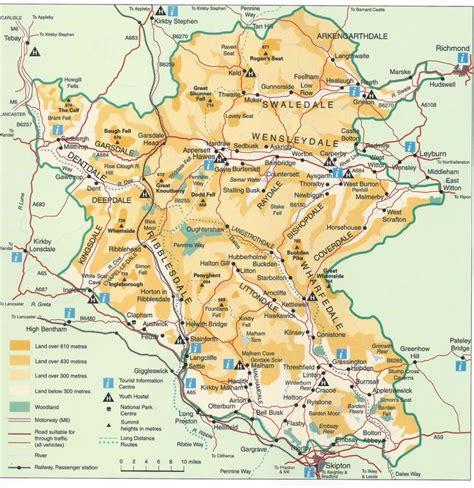 yorkshire dales map  united kingdom pinterest