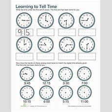 Time Practice  Worksheet Educationcom