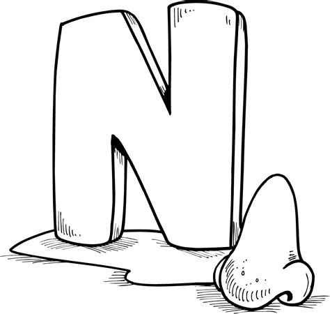 nose coloring pages