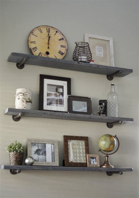 industrial shelf brackets loving what we live photo wall display on diy restoration