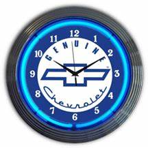 Chevy Neon Clock NC 20 78