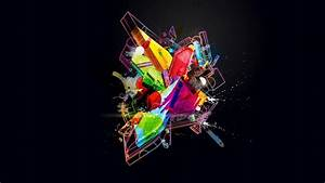 Wallpaper, Colorful, Digital, Art, Abstract, 3d, Space