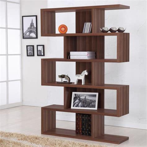 enitial lab marcel modern walnut bookcasedisplay stand