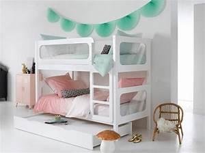 lit superpose blanc draps de lit rose et vert bleu With affiche chambre bébé avec livraison rose pas cher