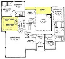 3 bedroom floor plans with garage 655799 1 traditional 4 bedroom 3 bath plan with 3 car garage house plans floor plans
