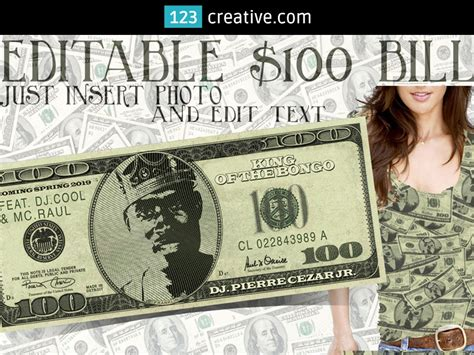 dollar bill mockup template psd editable face photo