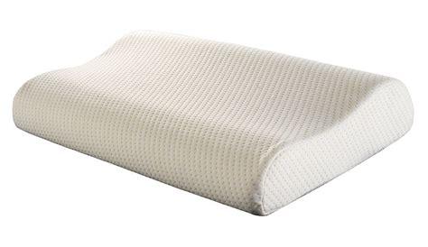 memory foam pillows moulded contour memory foam pillow trusleep visco