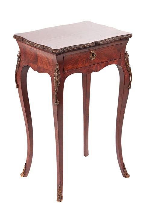 end tables vintage quality antique kingwood side l table 3570