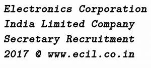 ECIL Purchase Manager Recruitment 2017 - Electronics ...