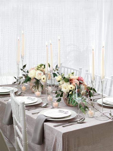 tischdeko  pastelltoenen mit rosen  beige und zartrosa