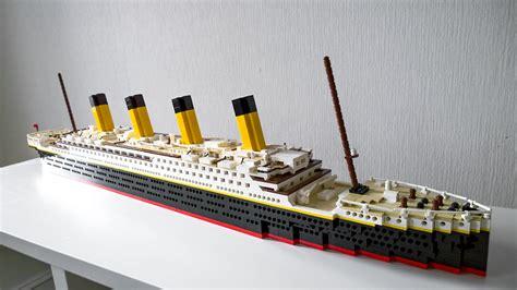 lego ship sinking titanic titanic brickbuilders fi lego moc models from finland
