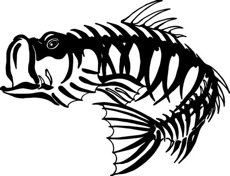 Fish Skeleton Stock Vector 104105471