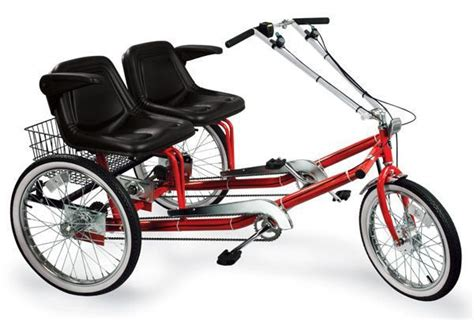 dual seat adult tricycle helps  sit