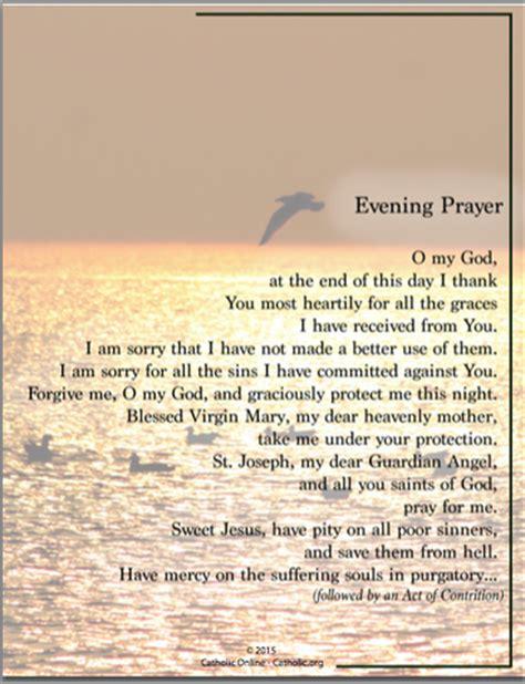 Prayers - Evening Prayer - Catholic Shopping .com